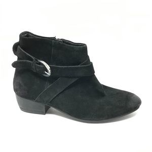 Rebels Size 6 Black Ankle Boots Harness Straps